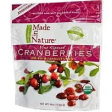 Made in Nature, Organic, Organic Cranberries, 4 oz