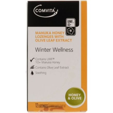 Comvita 康维他 麦芦卡蜂蜜 橄榄叶精华润喉糖 - 12粒