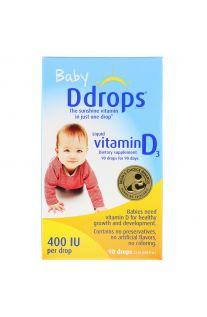 Ddrops, 嬰兒液體維生素D3,400 IU,2.5ml