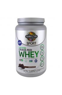 Garden of Life, Sport, Certified Grass Fed Whey Protein, Refuel, Chocolate, 23.28oz (660g)
