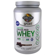 Garden of Life, Sport, Certified Grass Fed Whey Protein, Refuel, Chocolate, 23.7oz (672g)