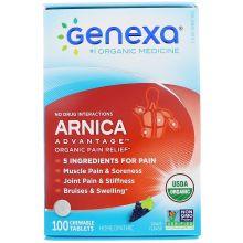 Genexa, 山金車有機止痛片,葡萄味,100片咀嚼片