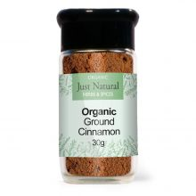 Just Natural Organic Cinnamon Ground (Glass Jar) 30g