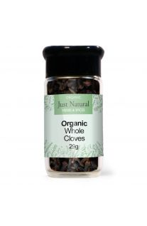 Just Natural Organic Cloves Whole (Glass Jar) 29g