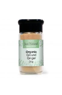 Just Natural Organic Ginger Ground (Glass Jar) 38g