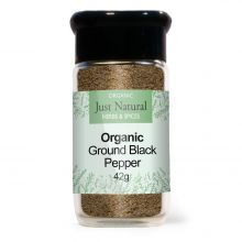 Just Natural Organic Pepper Ground Black (Glass Jar) 42g
