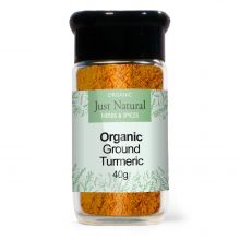 Just Natural Organic Turmeric (Glass Jar) 40g
