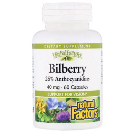 Natural Factors, Herbal Factors, 山桑子 40 mg, 60粒