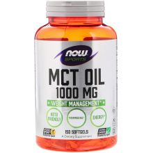 Now Foods, Sports, MCT 油, 1,000 mg, 150 膠囊