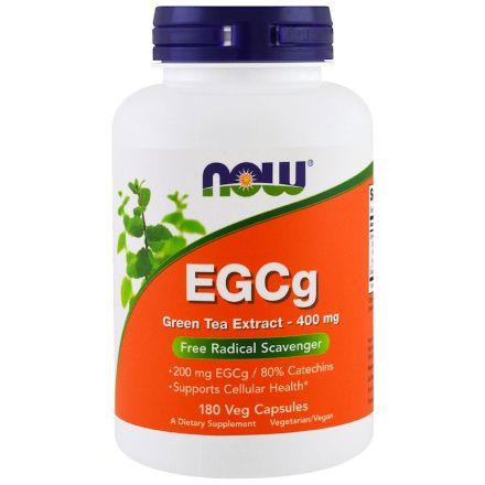 Now Foods, EGCg,绿茶萃取物, 400 mg, 180 粒植物胶囊