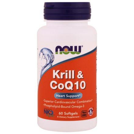 Now Foods, 磷蝦和輔酶Q10,60粒軟膠囊