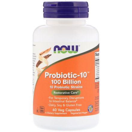Now Foods, 益生菌-10,1000亿,60粒素食胶囊