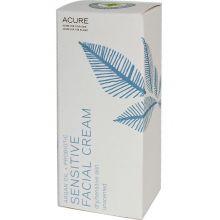 Acure, 敏感肌膚面霜,堅果油+益生菌,無味, 50ml