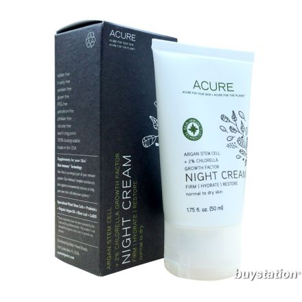 Acure, Night Cream, Argan Stem Cell, 50ml