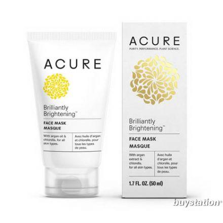 Acure, BRILLIANTLY BRIGHTENING™ 激活細胞面膜, 1.75 oz (50 ml)