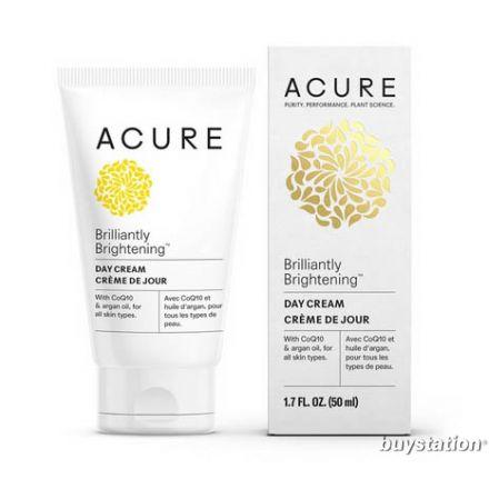 Acure, BRILLIANTLY BRIGHTENING™ 積雪草幹細胞日霜, 50ml