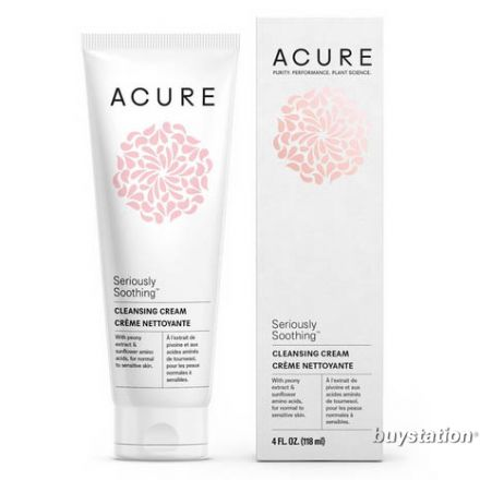 Acure, SERIOUSLY SOOTHING™ 敏感皮膚潔面乳, 4 oz (118 ml)
