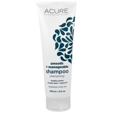 Acure, Smooth + Manageable Shampoo, Brazilian Keratin Coconut Water + Marula Oil, 8 fl oz (236 ml)