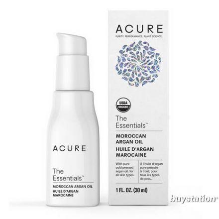 Acure, THE ESSENTIALS™ 有機認證摩洛哥堅果油, 1 oz (30 ml)