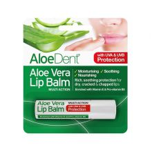 Aloedent, Aloe Vera Lip Balm + Tea Tree Lysine, 4g