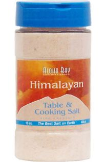 Aloha Bay, Himalayan Table & Cooking Salt, Fine Crystals, 15 oz (425 g)
