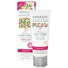 Andalou Naturals, CC 1000 Roses, Color + Correct, Sheer Nude with SPF 30, Sensitive, 2 fl oz