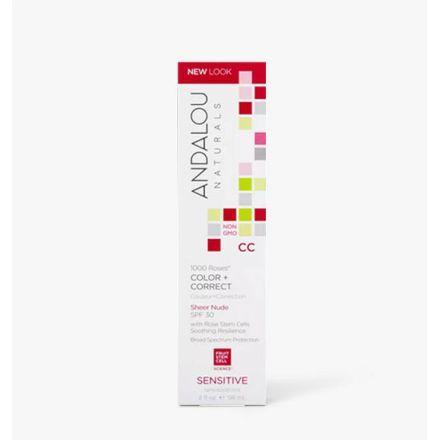 Andalou Naturals, 玫瑰防曬CC霜, SPF 30, 2 fl oz