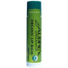 Aubrey Organic Lip Balm - Spearmint USDA Organic 0.15oz