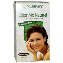 Aubrey, Color Me Natural, 全天然染髮劑, 深啡色, 4 oz