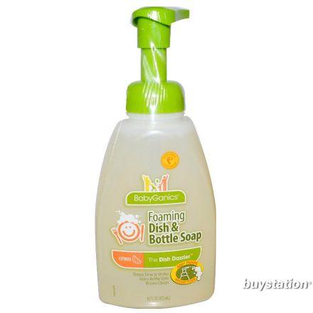 BabyGanics 泡沫奶瓶清潔液, 柑橘味 472ml
