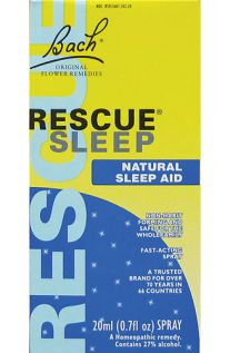 Bach Original Flower Remedies, Rescue Sleep, Natural Sleep Aid, 20ml - Spray