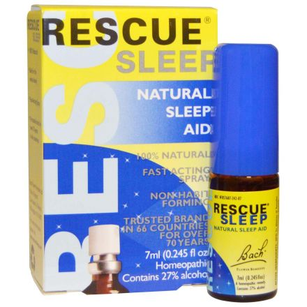 Bach 貝曲花藥,救助睡眠,輔助自然睡眠,7毫升 - 噴霧