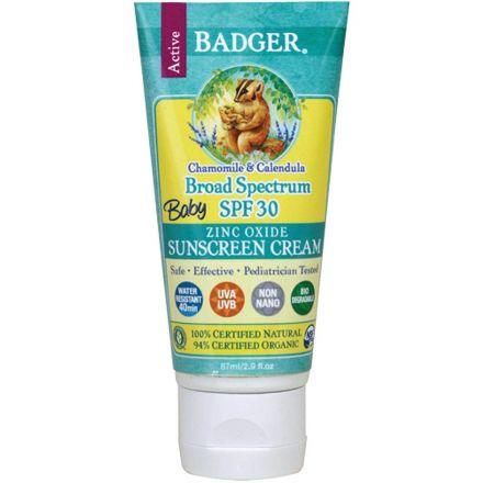 Badger 嬰兒防曬霜,SPF 30,洋甘菊+金盞花,87毫升