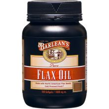 Barlean's, Pure Flax Oil, 1000 mg, 100 Softgels