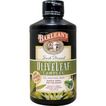 Barlean's 巴宁 橄榄叶精华, 薄荷味 16 oz (454 g)