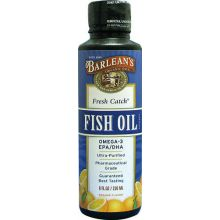 Barlean's, 巴宁 Fresh Catch, 鱼油 Omega-3 EPA / DHA, 香橙味 8 fl oz (236 ml)