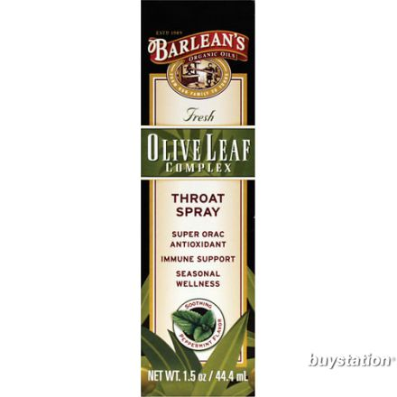 Barlean's 橄欖葉精華咽喉噴霧, 薄荷味 1.5 oz (44.4 ml)