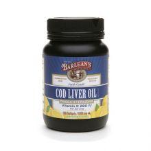Barlean's 巴宁 魚肝油胶囊 柠檬汽水味 1,000mg 100粒
