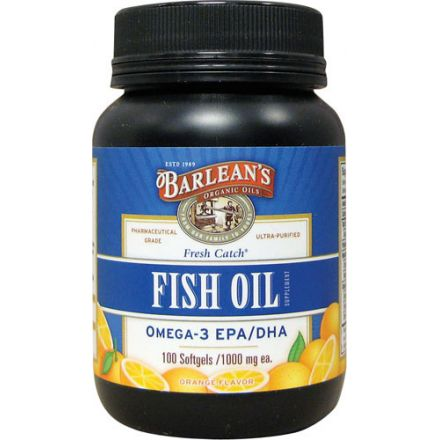 Barlean's, Fresh Catch, 魚油膠囊 Omega-3 EPA / DHA, 香橙味 1000 mg, 100 粒
