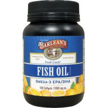Barlean's, Fresh Catch, Fish Oil Supplement, Omega-3 EPA/DHA, Orange Flavor, 1000 mg, 100 Softgels