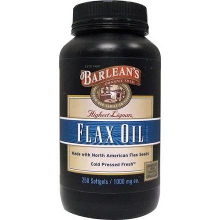 Barlean's 木酚素亞麻籽膠囊, 1,000mg, 250粒