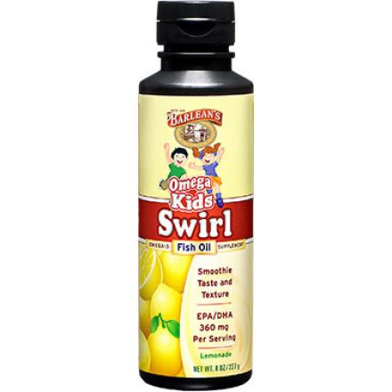 Barlean's, Omega Kid's Swirl 魚油,檸檬汽水味, 8 oz (227 g)