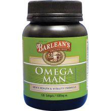 Barlean's 巴宁 Omega Man 男士配方油膠囊, 1000 mg, 120 粒