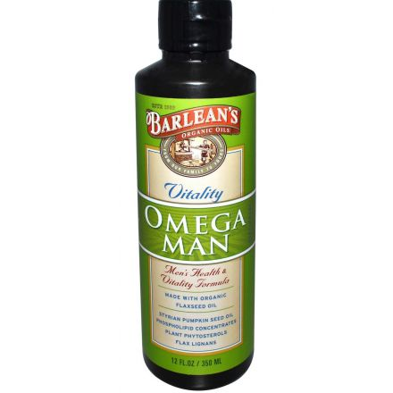 Barlean's, Omega Man 男士配方油, 12 fl oz (350 ml)
