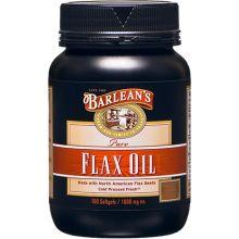 Barlean's 巴宁 纯亚麻籽油胶囊, 1000mg, 100粒