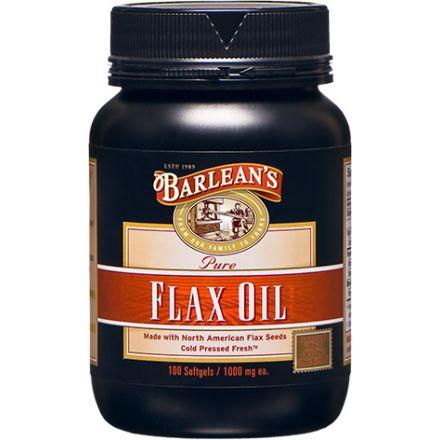 Barlean's 純亞麻籽油膠囊, 1000mg, 100粒