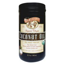 Barlean's Virgin Cold Pressed Coconut Oil 946ml (32oz)
