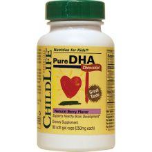 ChildLife 童年时光 纯正的DHA,莓果味90粒软胶囊 (每粒250毫克)