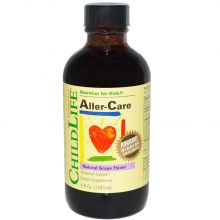 ChildLife, Aller-Care, 天然葡萄味營養素 4 Fl.Oz. (118.5ml)