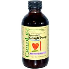 ChildLife, Formula 3 Cough Syrup Natural berry flavor. 4 fl oz (118.5 mL) (alcohol free)
